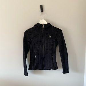 Black Spyder Zip Up Sweater / Jacket - Size Small